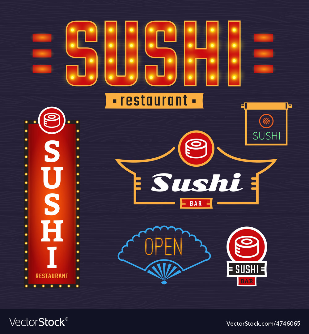 Signs sushi vector | Price: 1 Credit (USD $1)