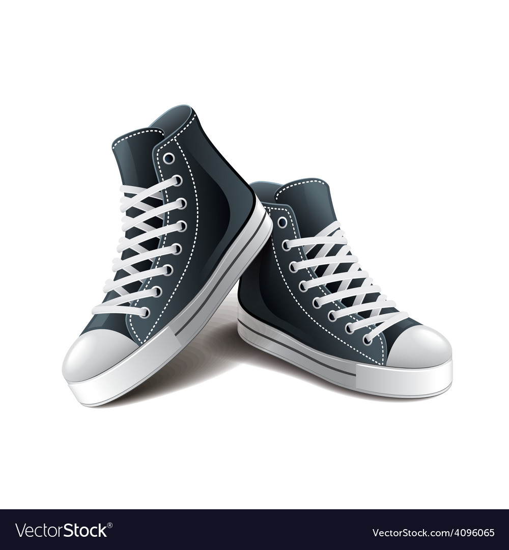 Sneakers isolated vector | Price: 3 Credit (USD $3)