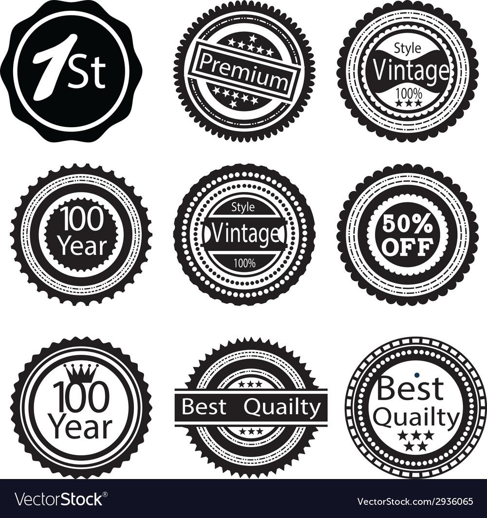Vintage badges vector | Price: 1 Credit (USD $1)