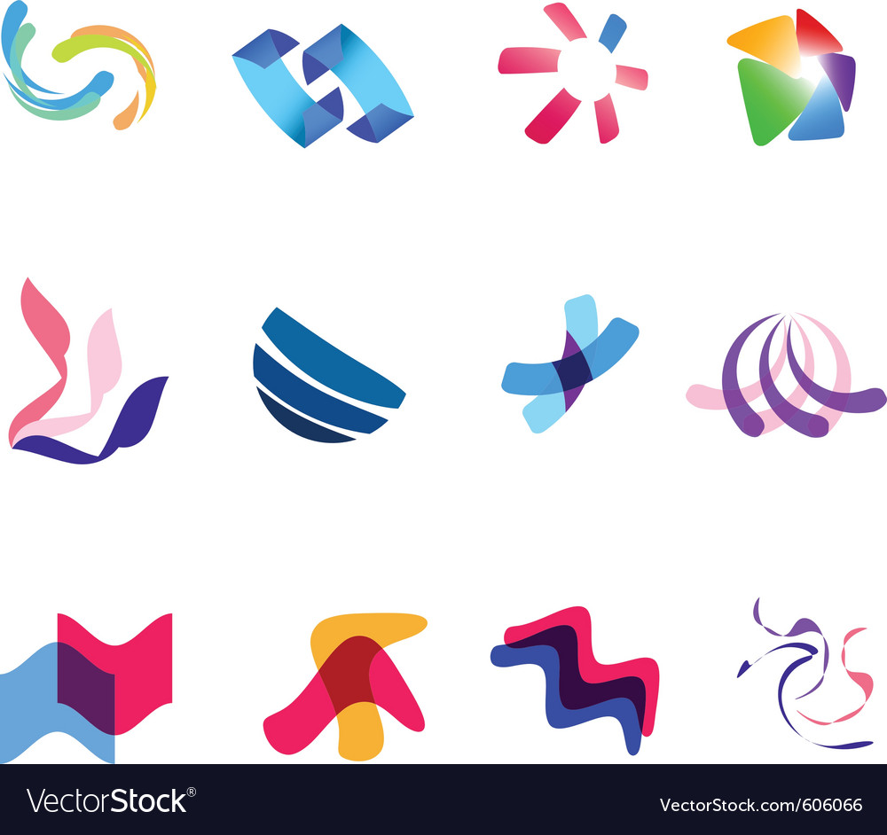 12 colorful symbols set 27 vector | Price: 1 Credit (USD $1)
