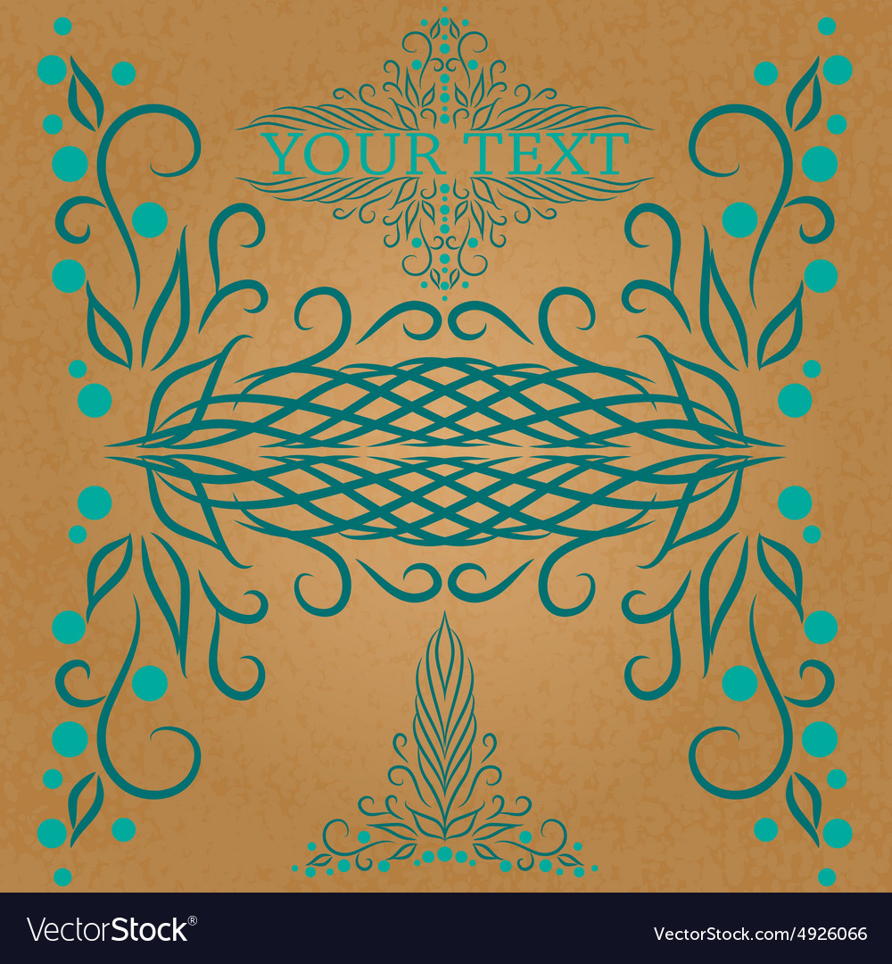 Calligraphic vintage design element vector
