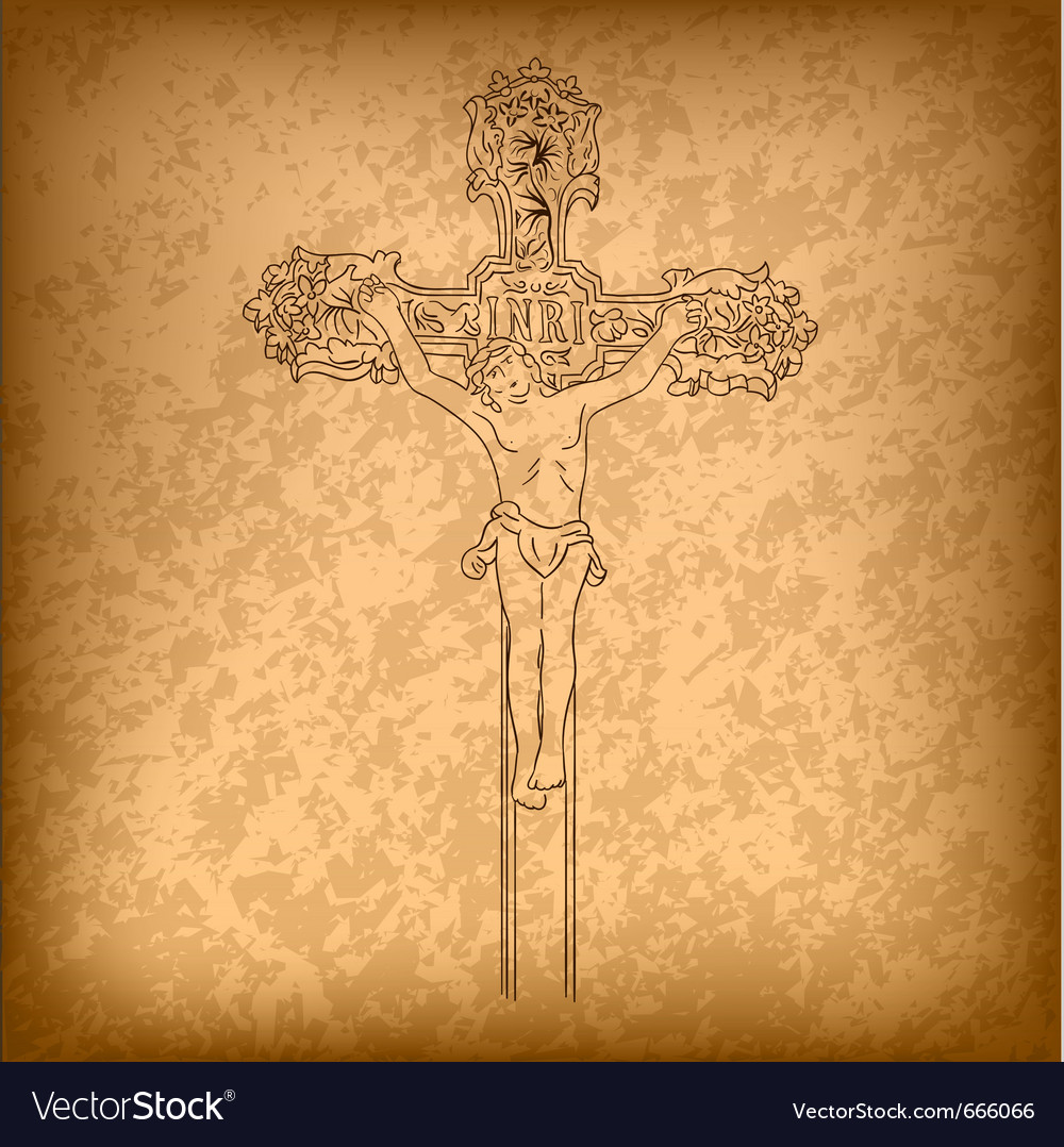 Christ on a cross vector | Price: 1 Credit (USD $1)