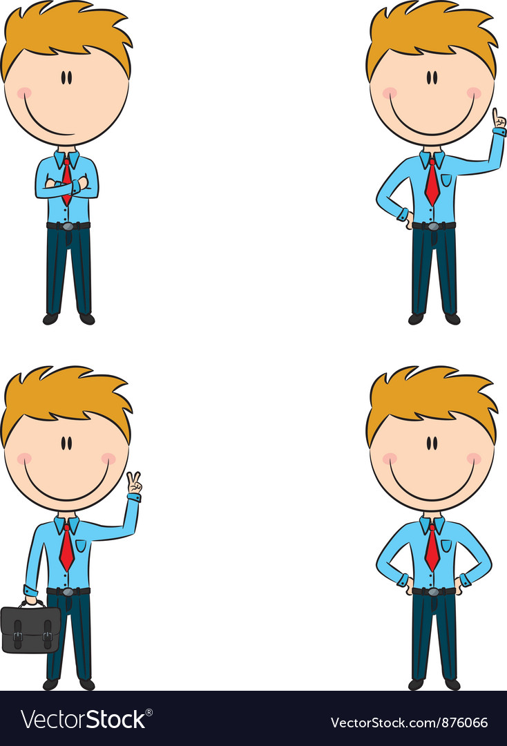 Cute and funny cartoon businessmen vector | Price: 1 Credit (USD $1)