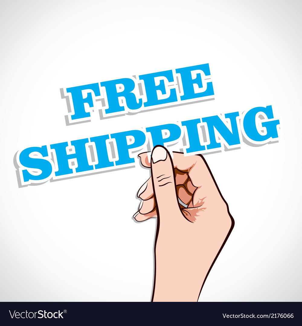 Free shipping in hand vector | Price: 1 Credit (USD $1)