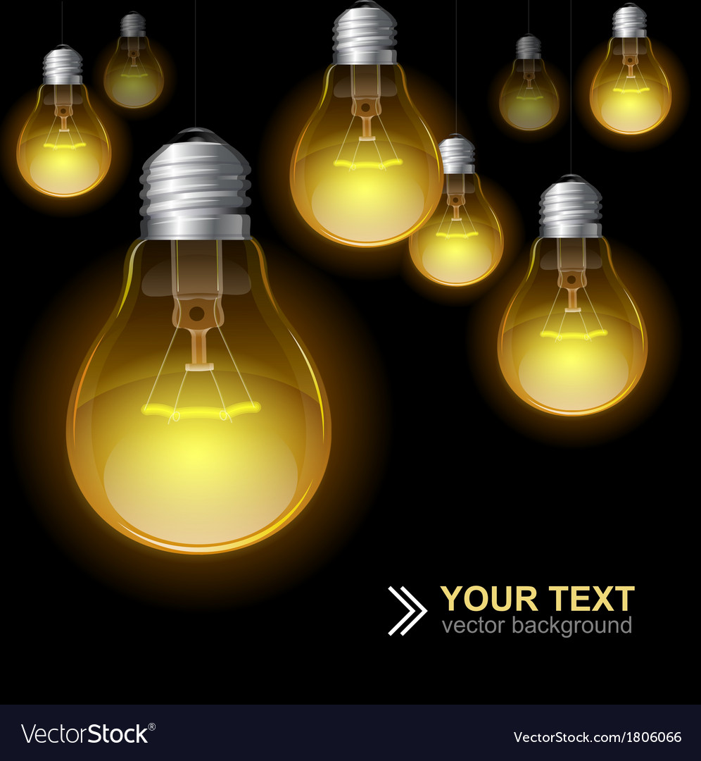 Light bulb seamless pattern vector | Price: 1 Credit (USD $1)