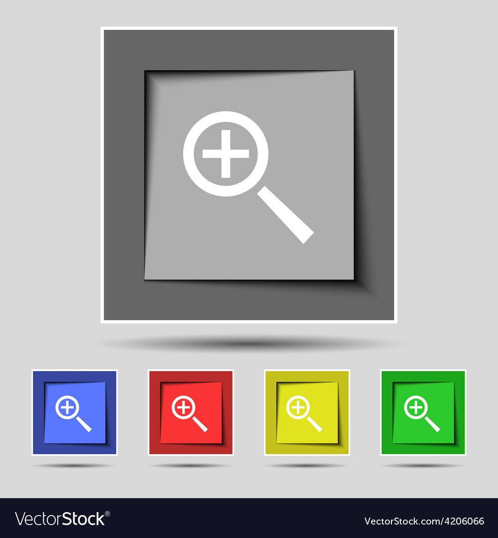 Magnifier glass zoom tool icon sign on the vector   Price: 1 Credit (USD $1)