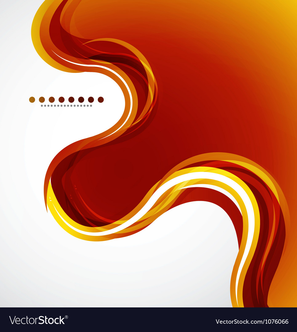 Orange flowing wave vector | Price: 1 Credit (USD $1)