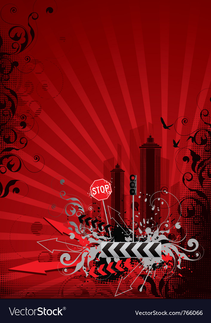 Red city vector | Price: 1 Credit (USD $1)