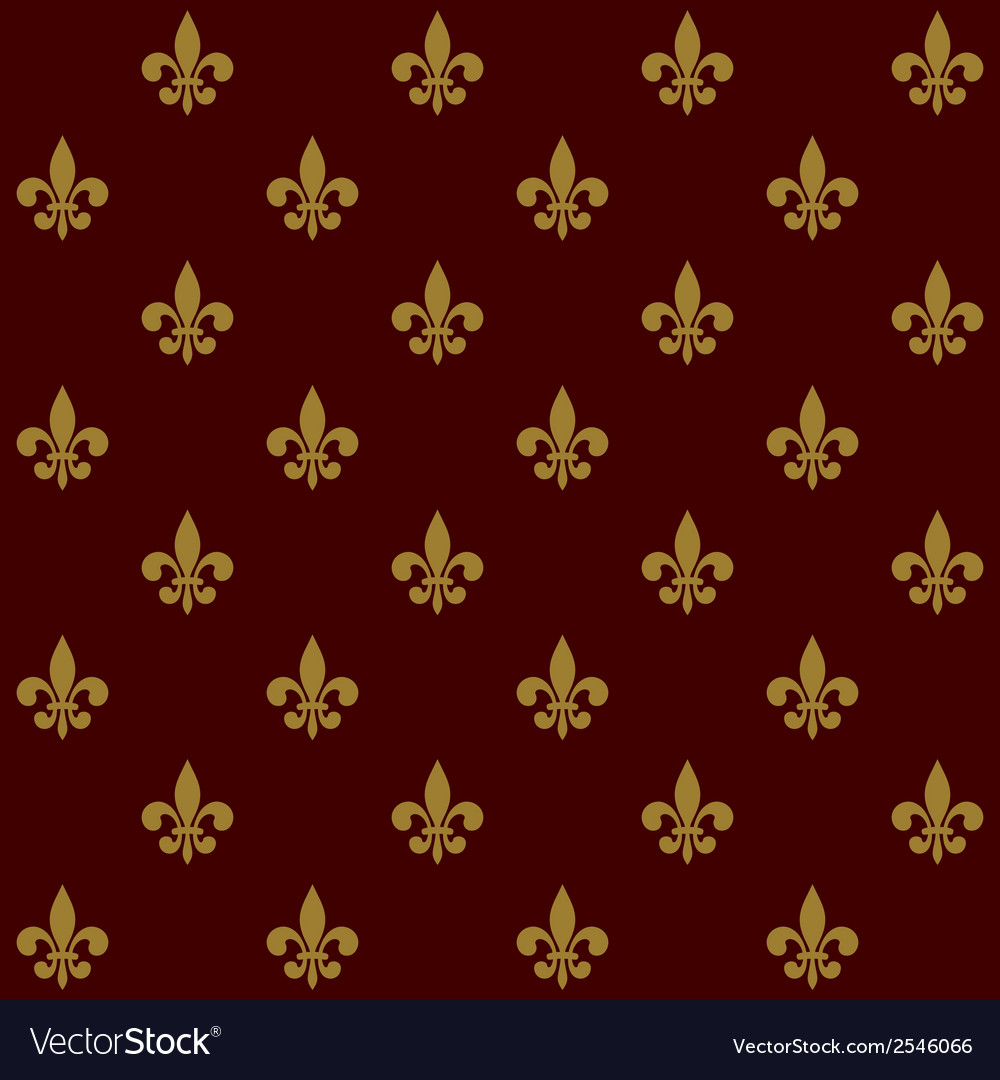 Royal lily fleur de lis seamless pattern vector | Price: 1 Credit (USD $1)