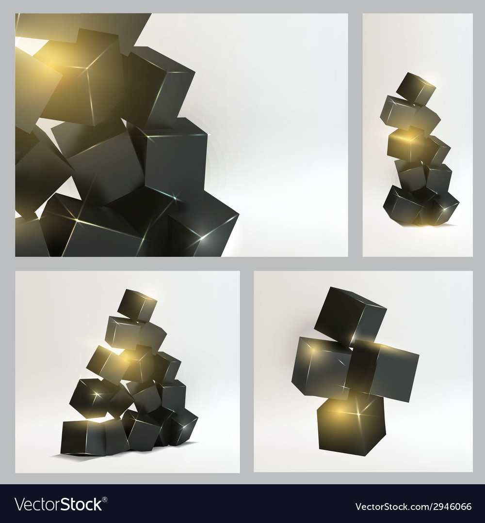 Set of magic boxes vector | Price: 1 Credit (USD $1)