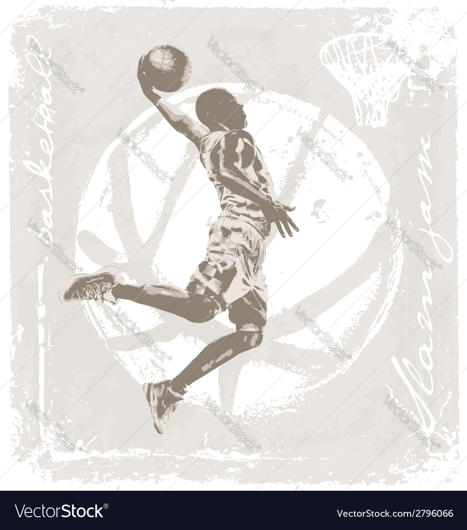 Slam jam basket ball vector | Price: 3 Credit (USD $3)