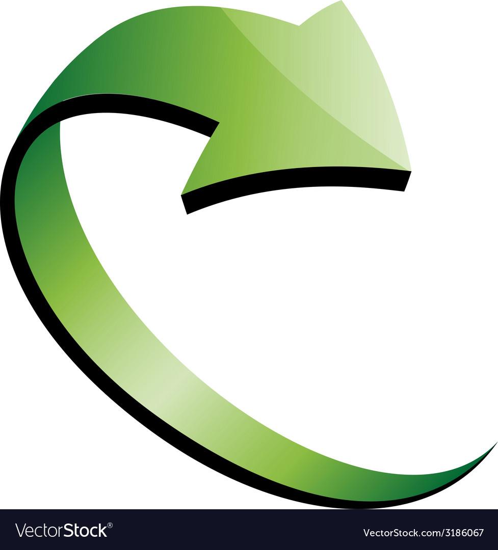 3d green arrow vector | Price: 1 Credit (USD $1)
