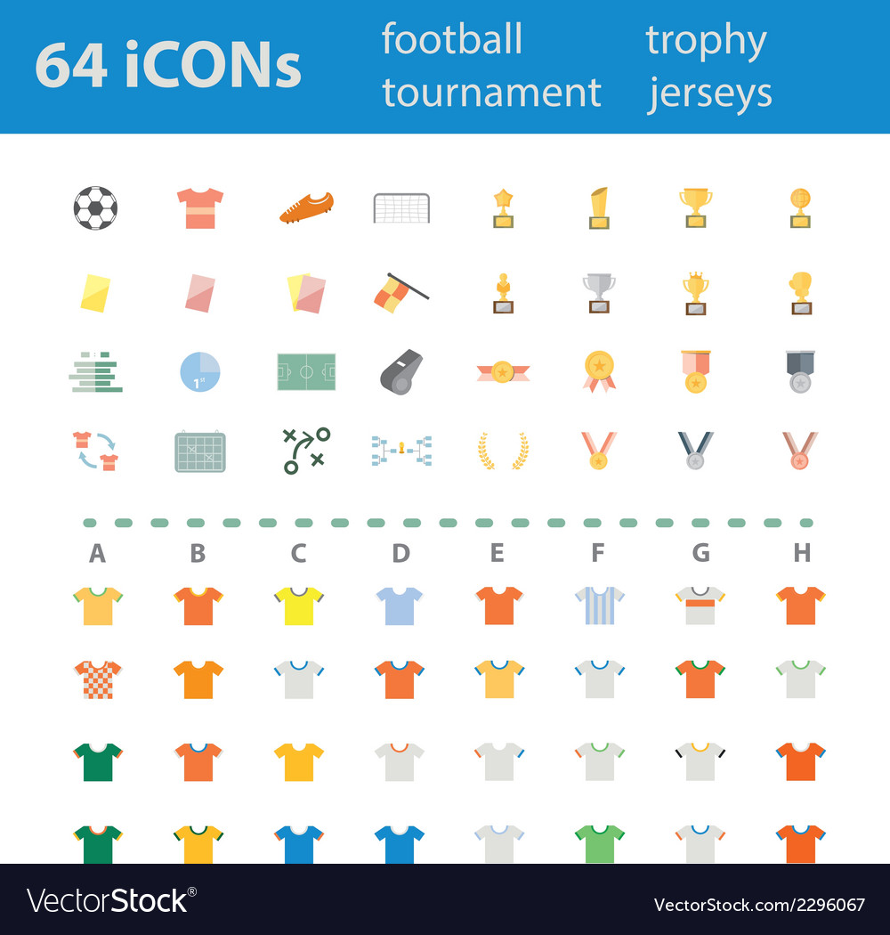 64icon football tournament trophy vector | Price: 1 Credit (USD $1)