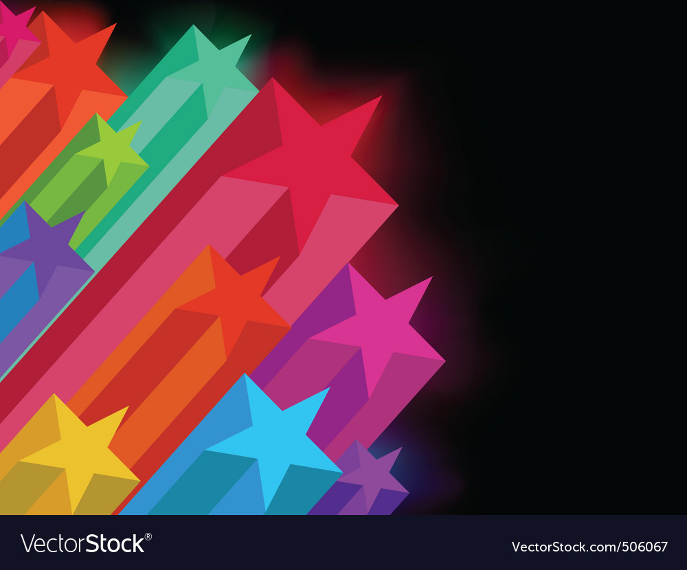 Abstract glowing stars on a dark background eps 8 vector | Price: 1 Credit (USD $1)