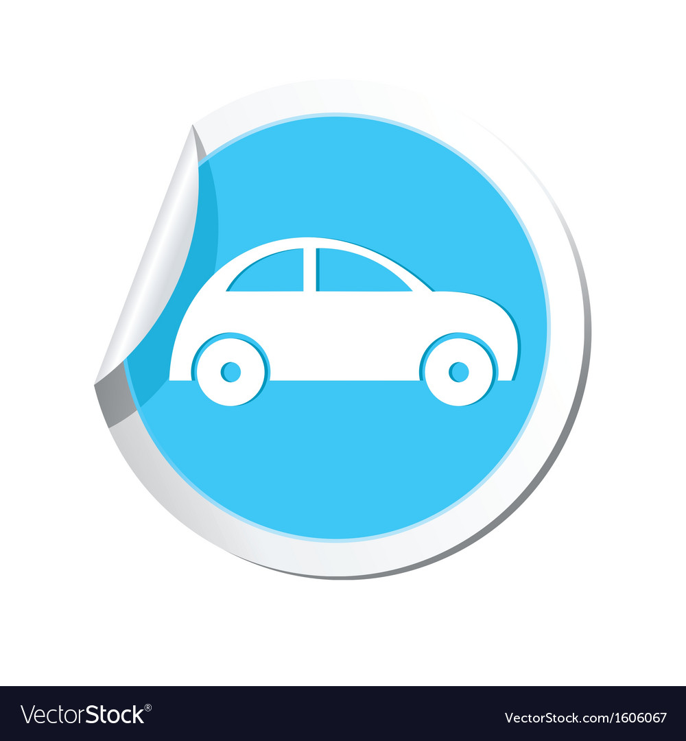 Car icon round blue vector | Price: 1 Credit (USD $1)