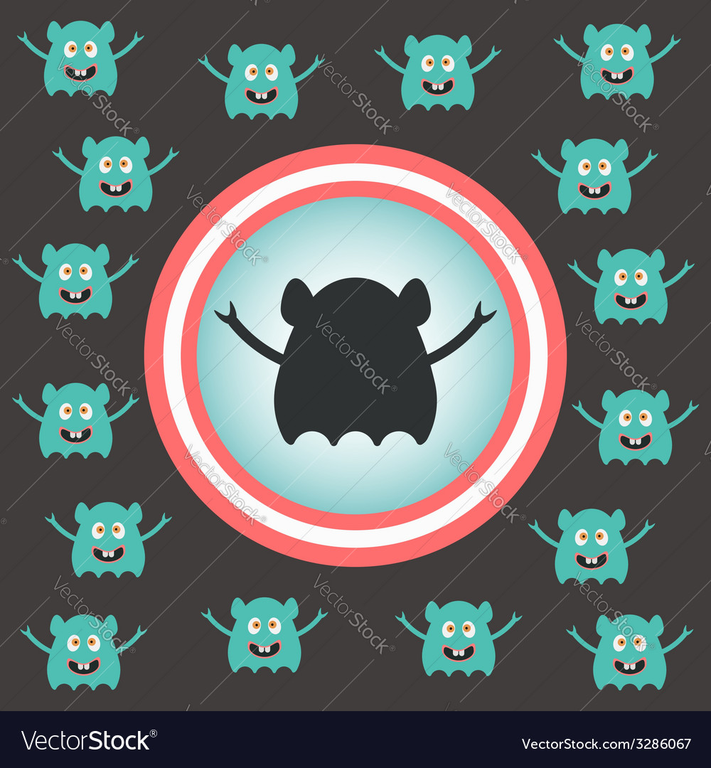 Cute alien invasion vector | Price: 1 Credit (USD $1)