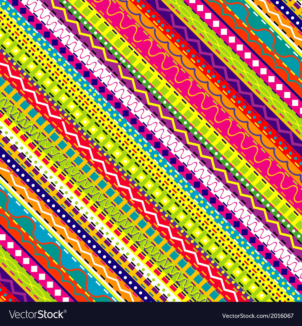 Doodle ethnic and colored seamless background vector | Price: 1 Credit (USD $1)