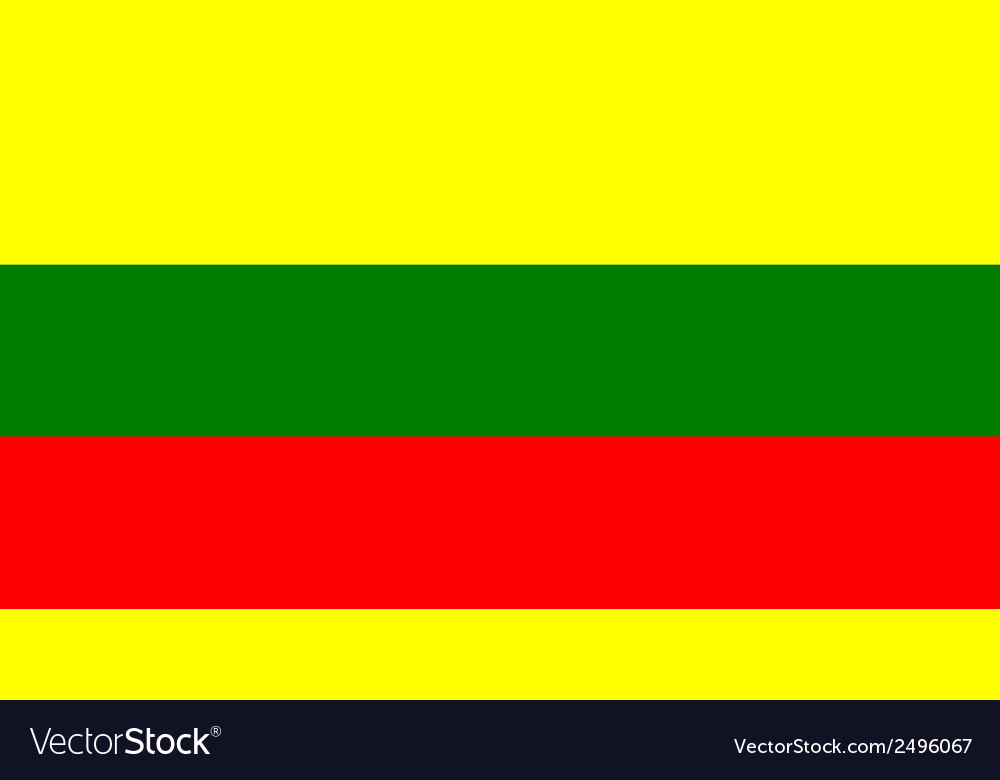 Flag of lithuanian vector | Price: 1 Credit (USD $1)