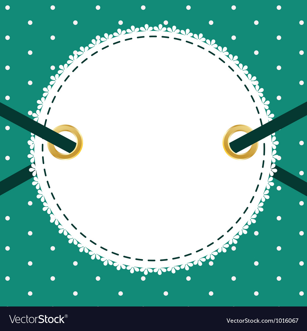 Greeting scrap retro background with empty photo vector | Price: 1 Credit (USD $1)
