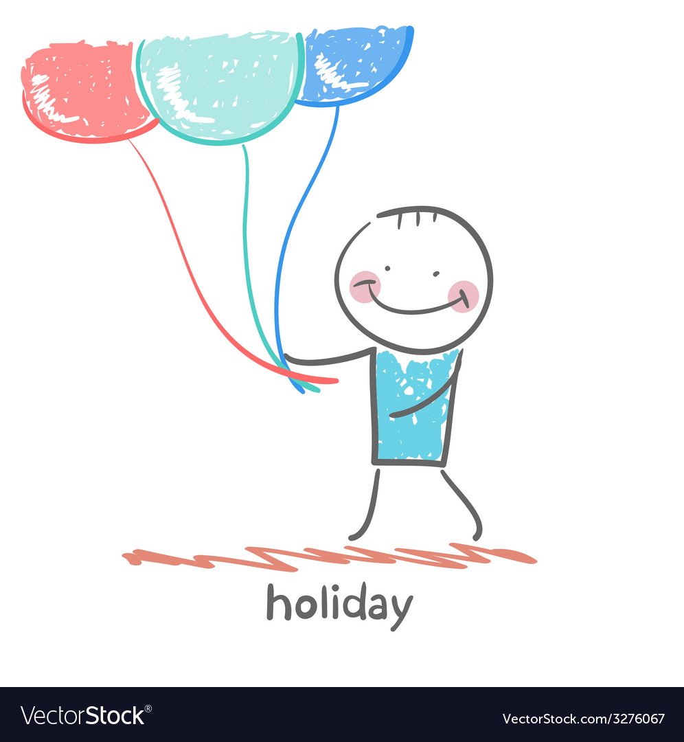 Holiday with balloons vector | Price: 1 Credit (USD $1)