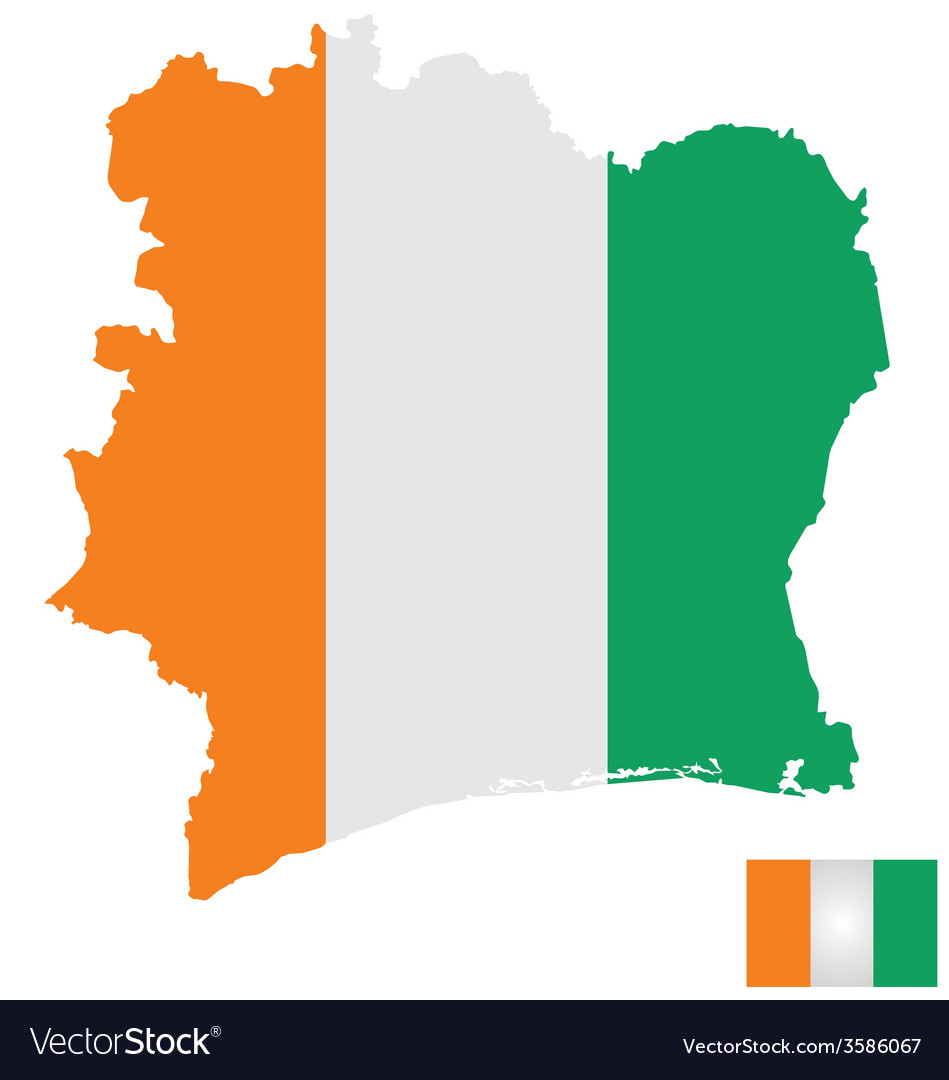 Ivory coast flag vector | Price: 1 Credit (USD $1)