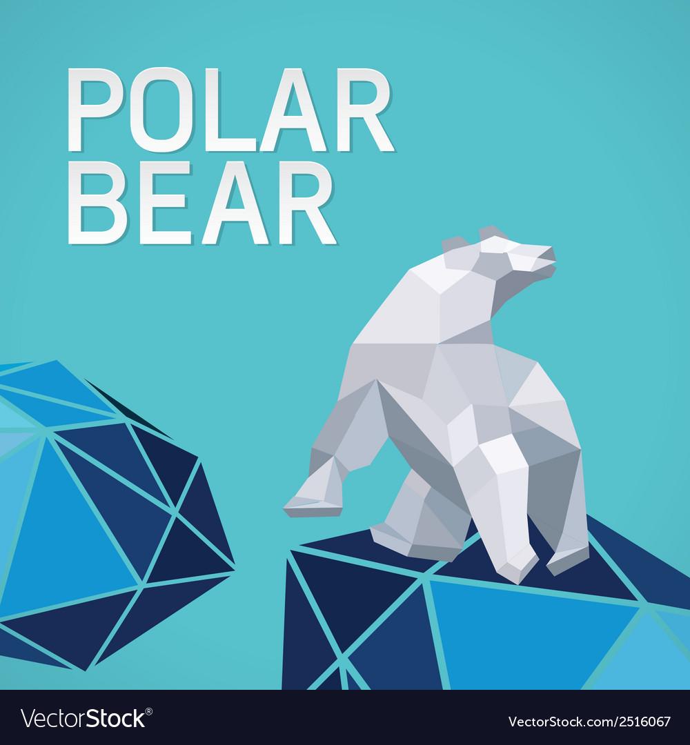 Polar bear stylized triangle vector | Price: 1 Credit (USD $1)