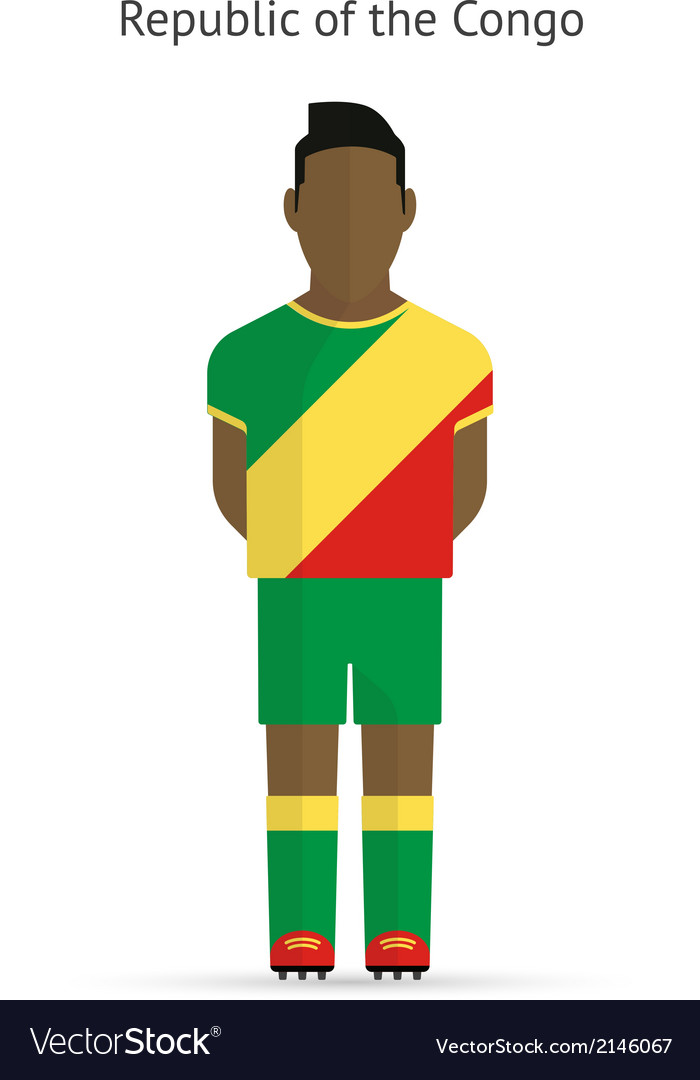 Republic of congo football player soccer uniform vector | Price: 1 Credit (USD $1)