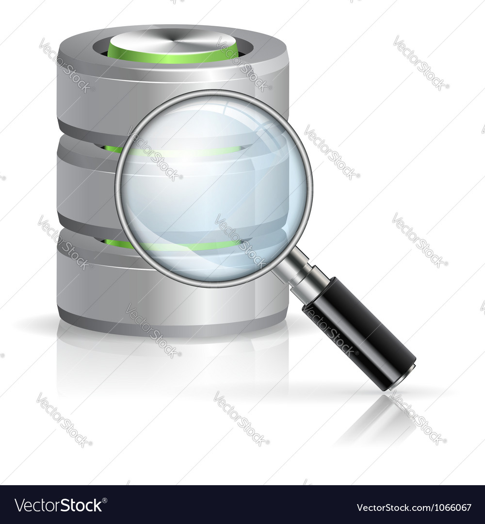 Search in database concept vector | Price: 1 Credit (USD $1)