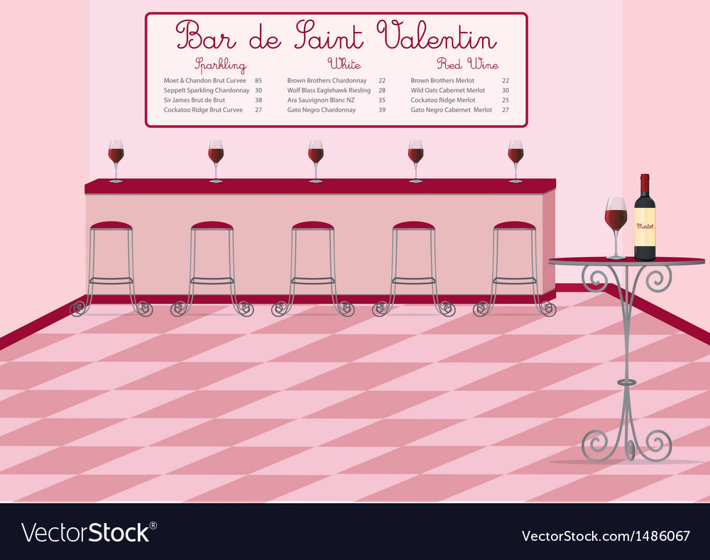 Valentines bar vector | Price: 1 Credit (USD $1)
