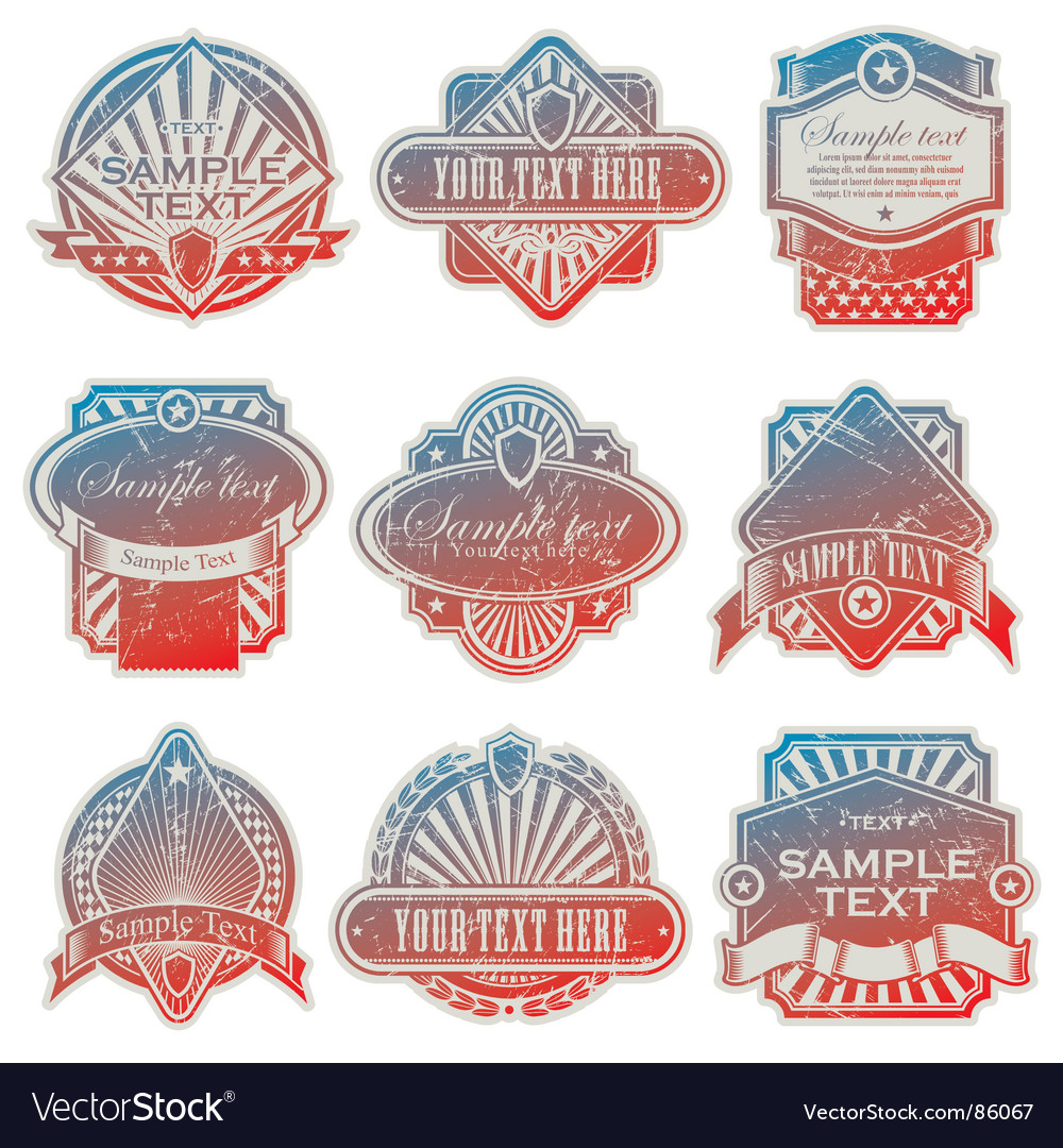 Vintage usa labels vector | Price: 1 Credit (USD $1)