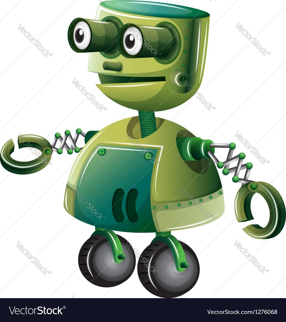 A green robot vector | Price: 1 Credit (USD $1)