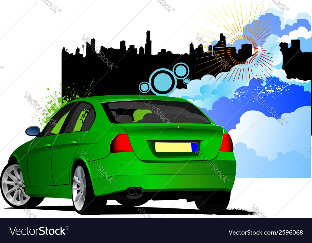 Al 0434 car sedan 02 vector | Price: 1 Credit (USD $1)