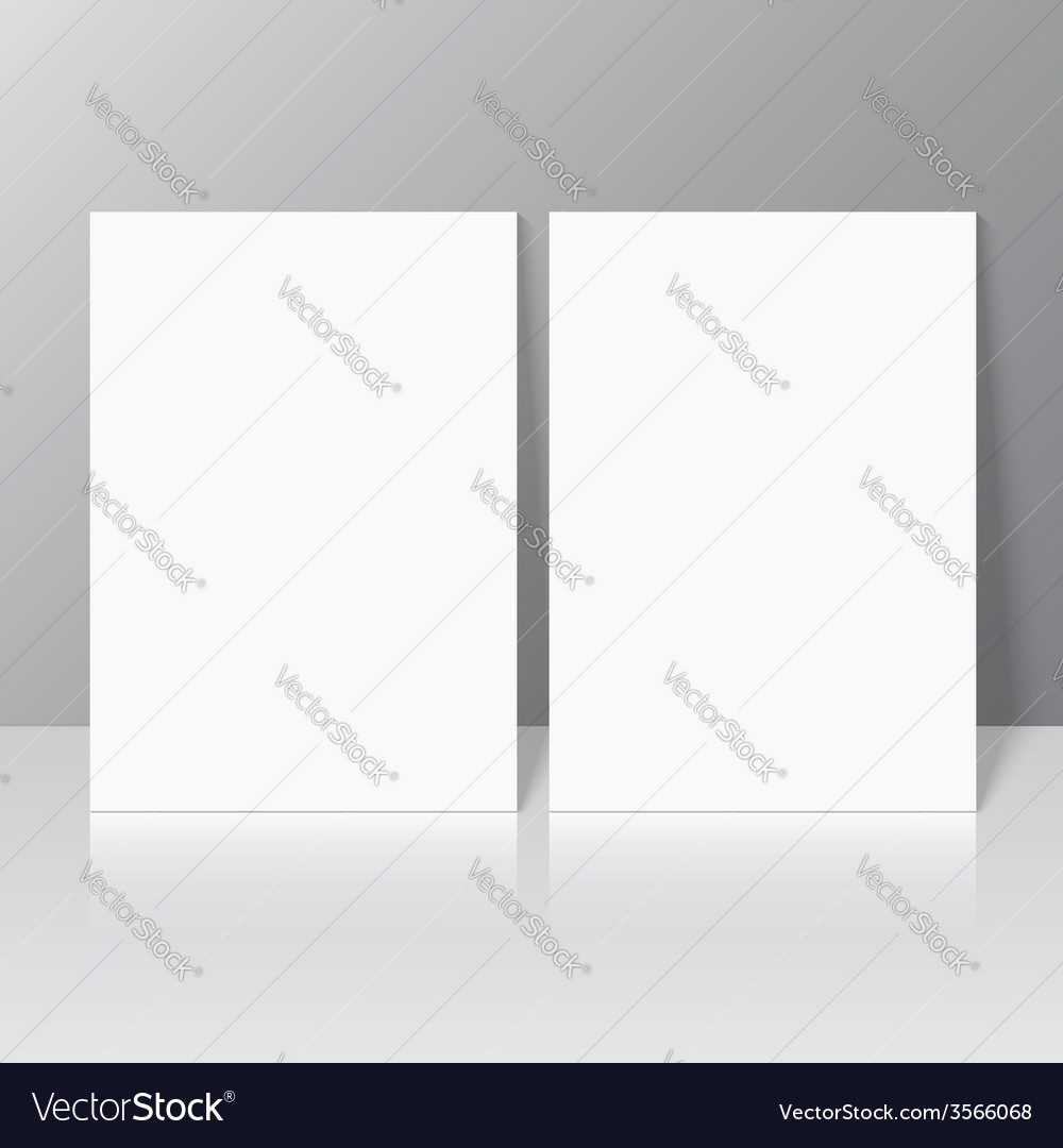 Blank empty magazine template vector | Price: 1 Credit (USD $1)