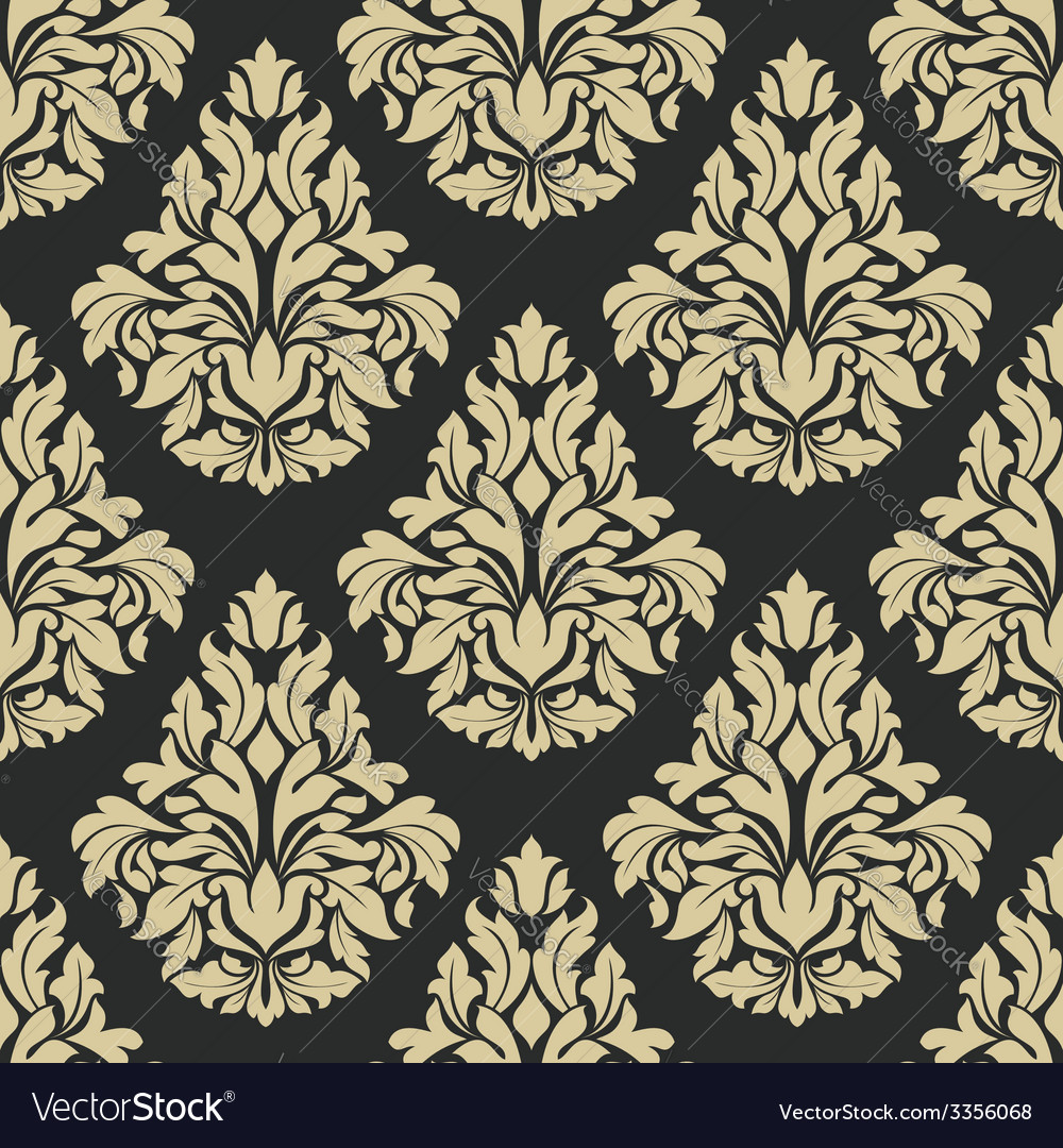 Classic floral damask seamless pattern vector   Price: 1 Credit (USD $1)