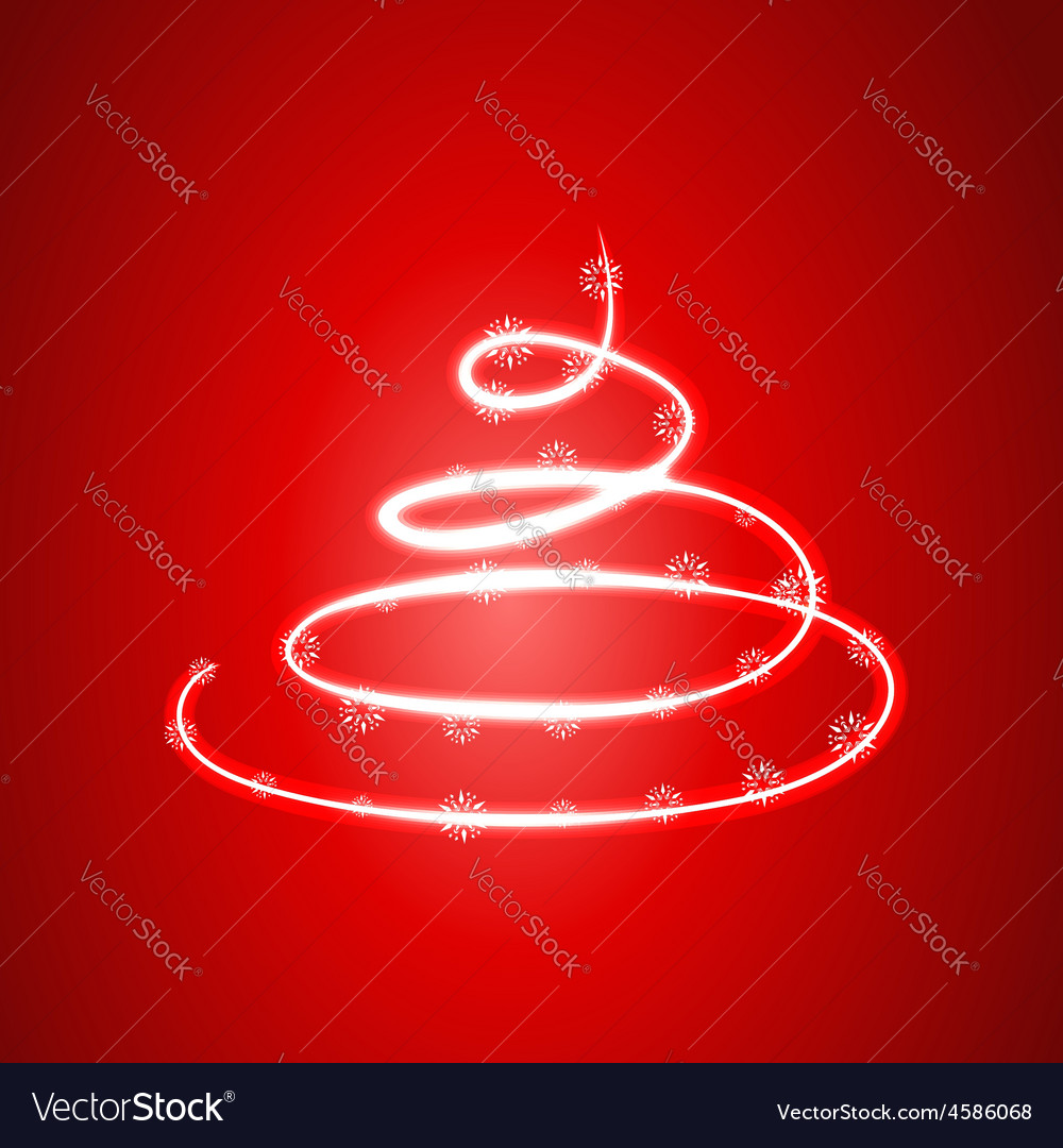 Glowing christmas tree vector | Price: 1 Credit (USD $1)