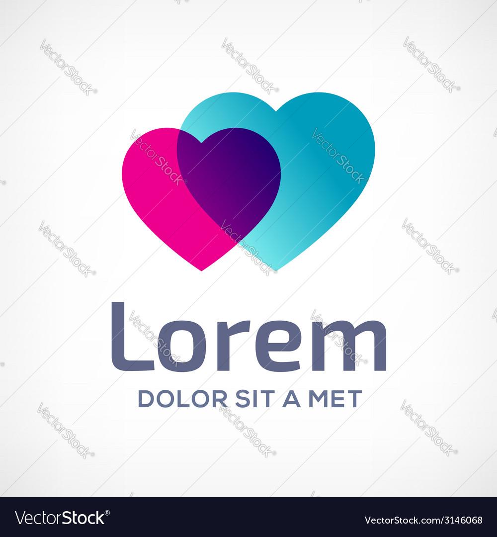 Heart symbol logo icon design template vector   Price: 1 Credit (USD $1)