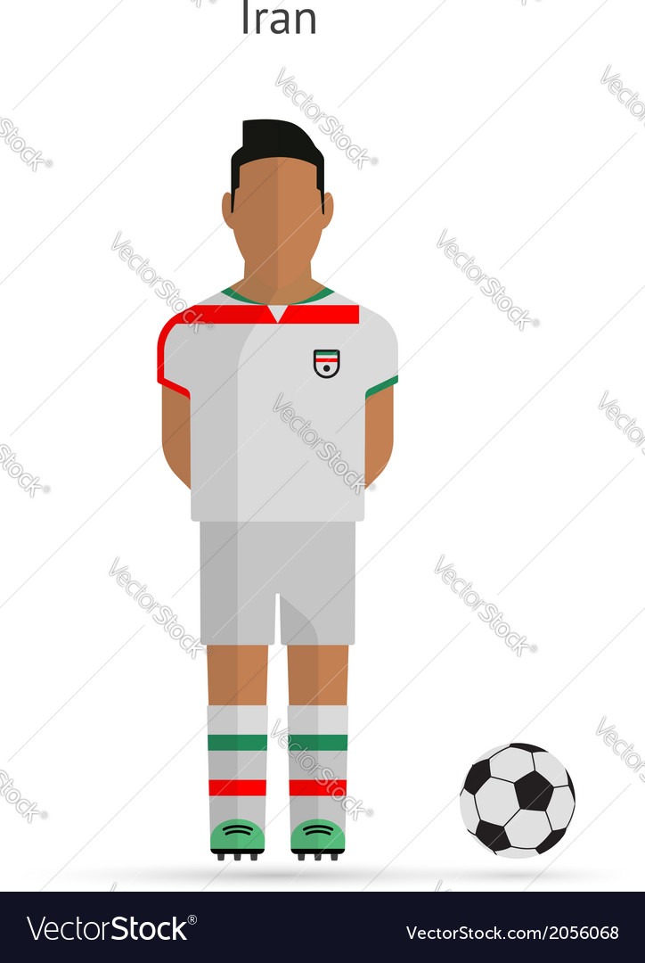 National football player iran soccer team uniform vector | Price: 1 Credit (USD $1)