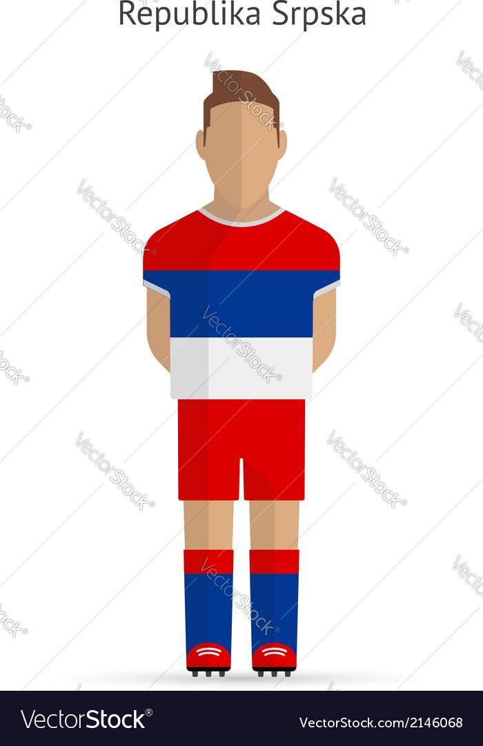 Republika srpska football player soccer uniform vector | Price: 1 Credit (USD $1)