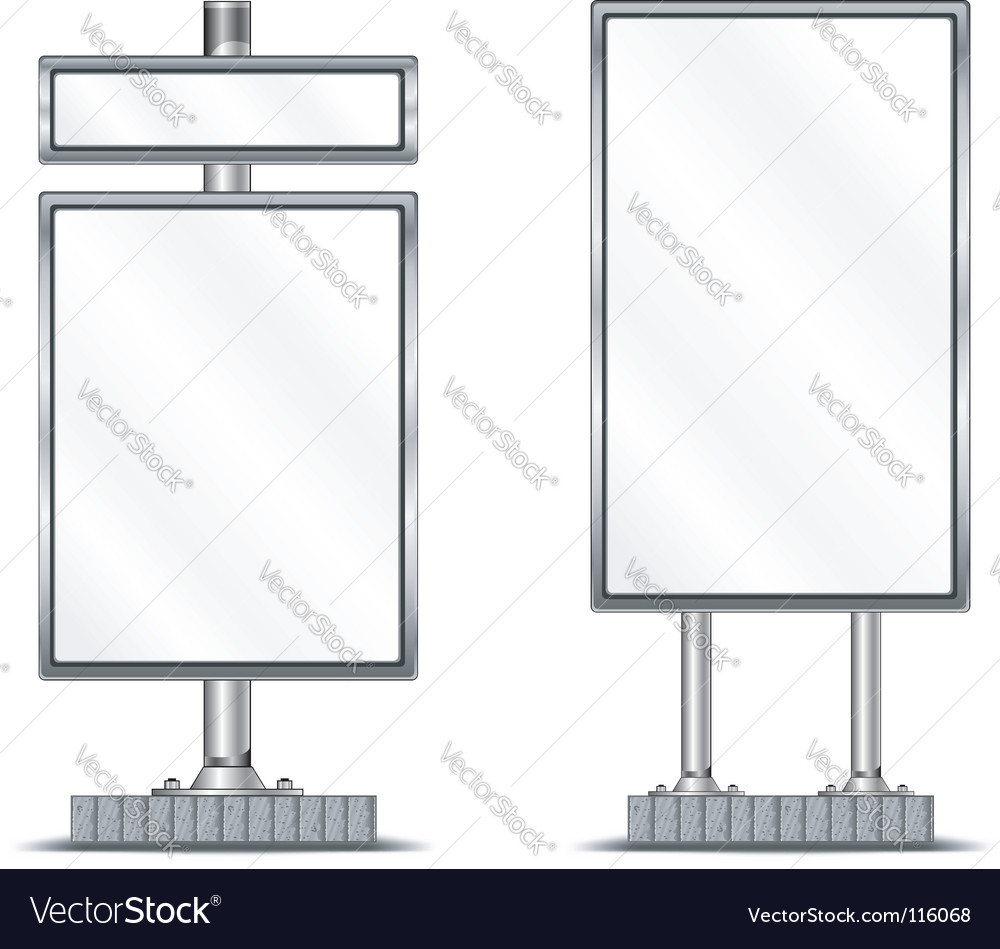 Vertical billboard vector | Price: 1 Credit (USD $1)
