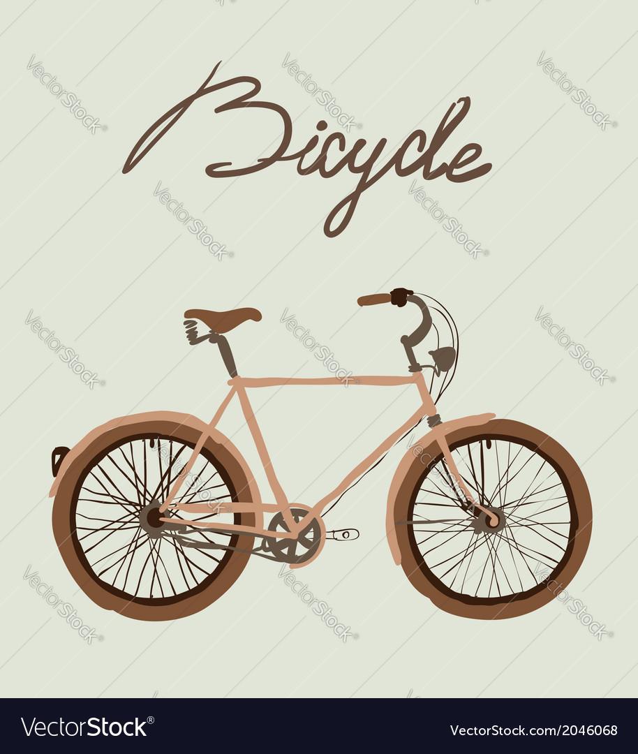 Vintage bicycle vector   Price: 1 Credit (USD $1)