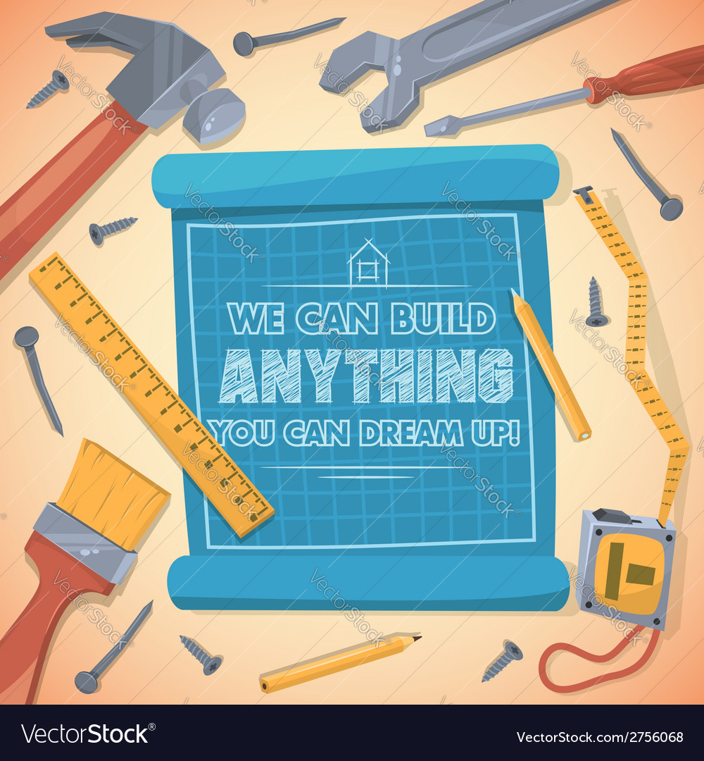 We can build anything you can dream up vector | Price: 1 Credit (USD $1)