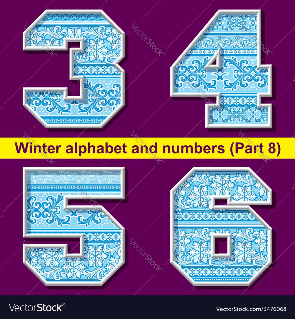 Winter abc 08 vector | Price: 1 Credit (USD $1)