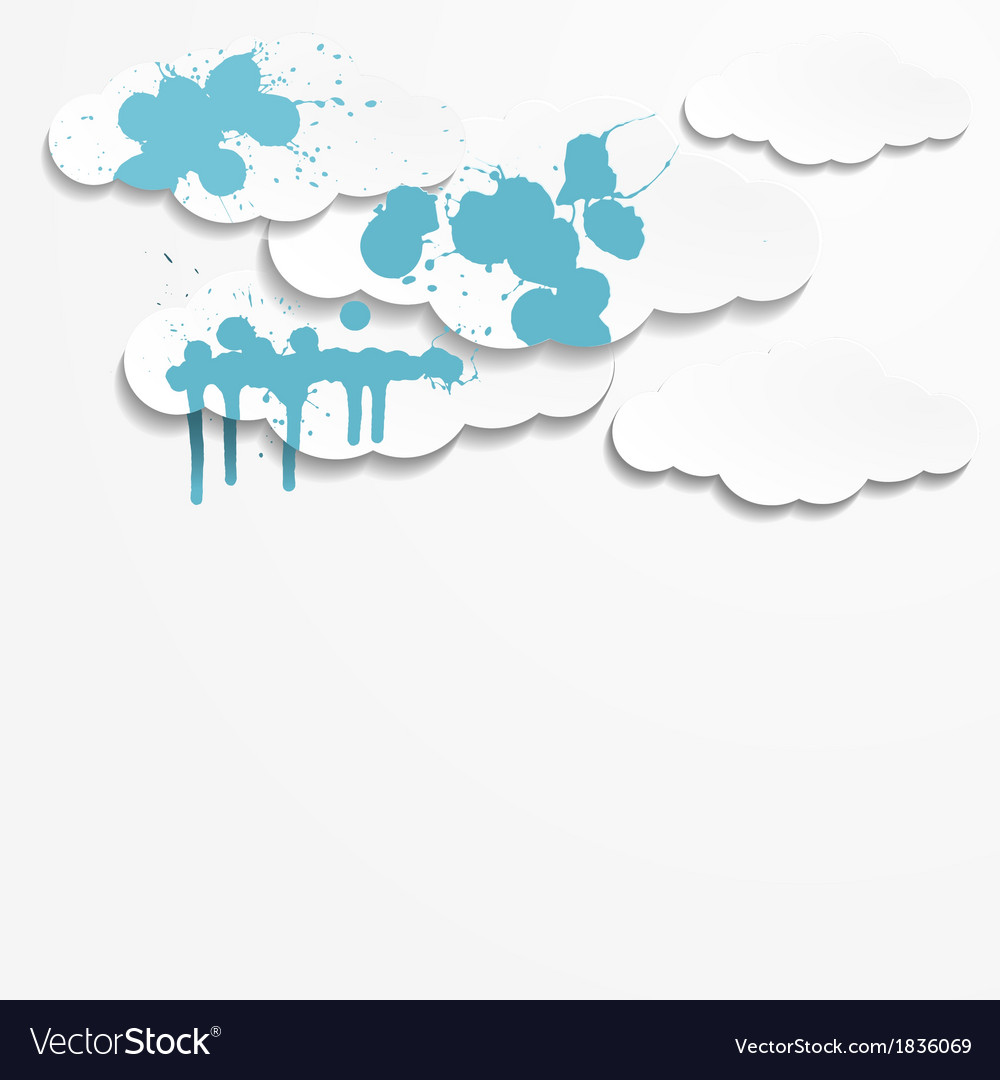 Abstract background with paper clouds vector | Price: 1 Credit (USD $1)