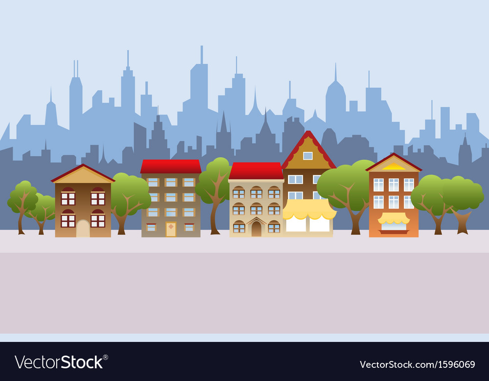 Cartoon town vector | Price: 1 Credit (USD $1)