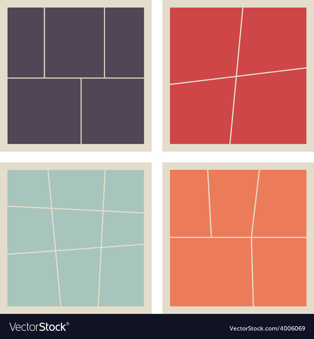 Collage frames set vector | Price: 1 Credit (USD $1)