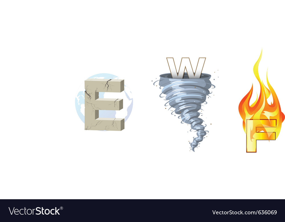 Earth wind fire vector | Price: 3 Credit (USD $3)