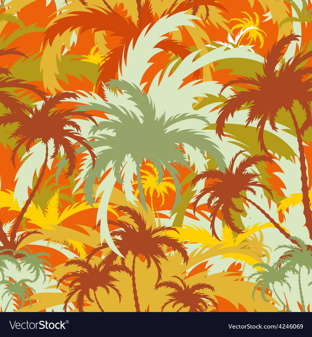 Palm treesseamless background vector | Price: 1 Credit (USD $1)