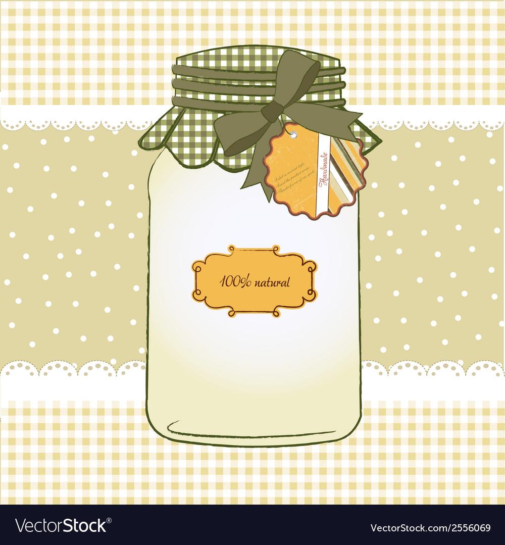 Pure biological food jar vector | Price: 1 Credit (USD $1)