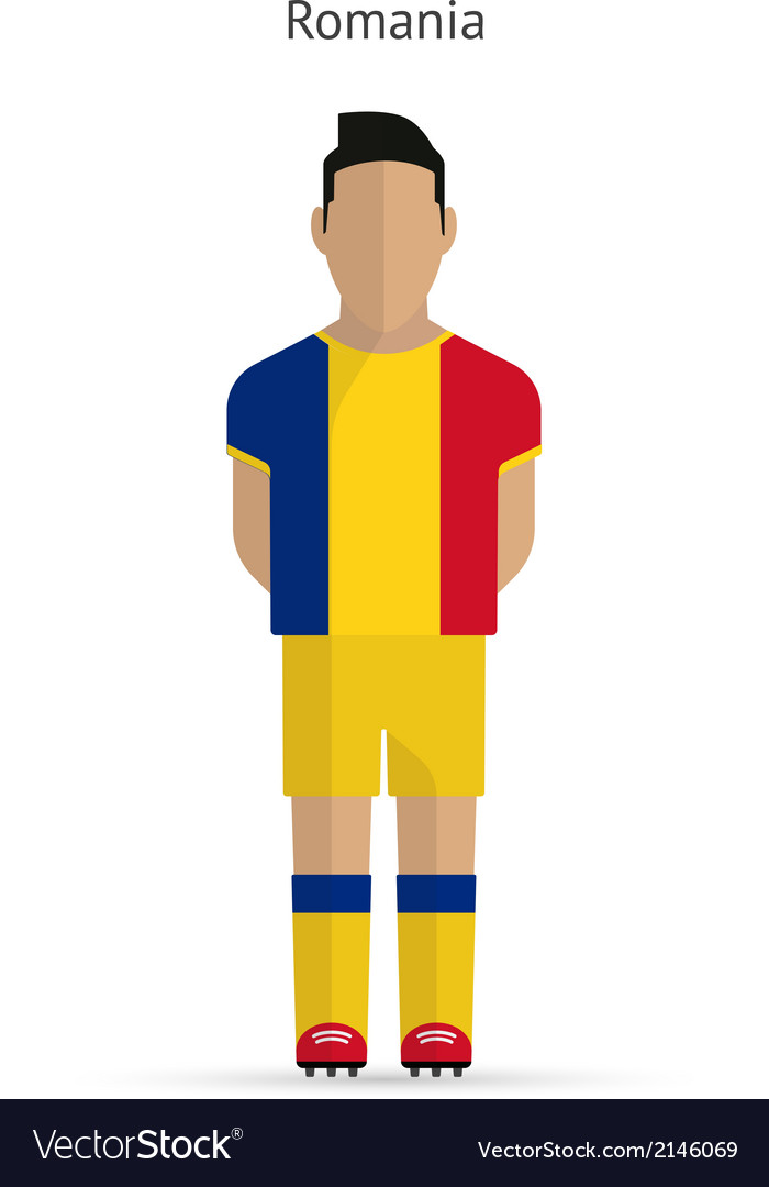 Romania football player soccer uniform vector | Price: 1 Credit (USD $1)