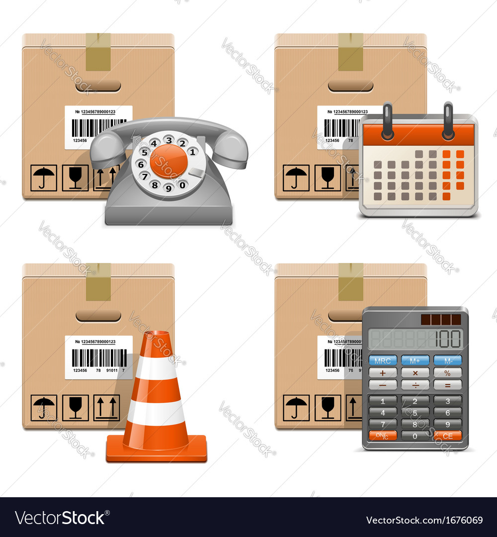 Shipment icons set 13 vector | Price: 1 Credit (USD $1)